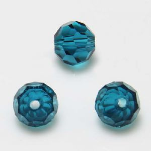 Beads, Selenial Crystal, Crystal, Teal , Faceted Rounds, Diameter 8mm, 10 Beads, [ZZC117]